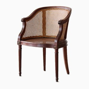 Cane and Mahogany Desk Chair