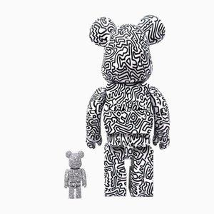 Keith Haring, 400% & 100% Bearbrick, 2er Set