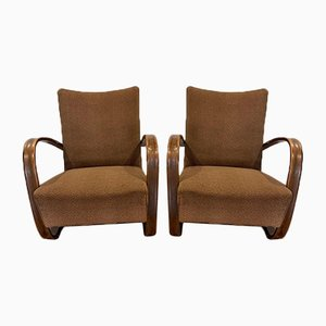 Model 269 Lounge Chairs by Jindrich Halabala for Thonet, Set of 2