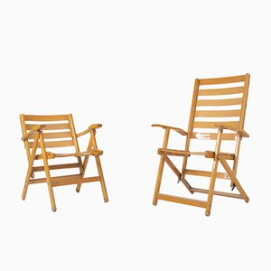 Folding Chairs by Ico & Luisa Parisi for Reguitti, Italy, 1970s, Set of 2