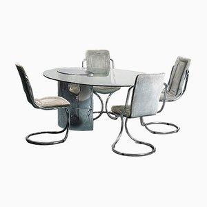 Vintage Lunario Esstisch & Stühle, 1970er, 5er Set