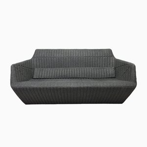 Grey Wool Facett Sofa by Ronan & Bouroullec for Ligne Roset