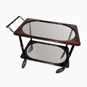 Serving Trolley in Mahogany and Brass, 1960s