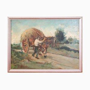Italian Oil Painting on Wooden Board