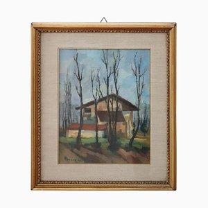 Italian Oil Painting on Canvas, 1880s