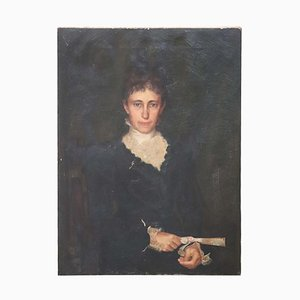 Oil on Canvas, Portrait of Lady