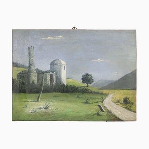 Italian Landscape, Oil on Canvas, 1939