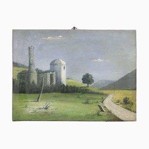 Italienische Landschaft, Öl auf Leinwand, 1939