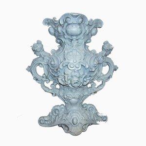 Pre-War Cast Iron Figural Vase