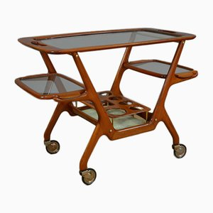 Mid-Century Bar Cart in the Style of Ico Parisi for De Baggis, Italy, 1950s