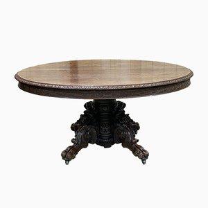 Large Henry II Château Table in Oak