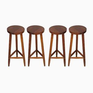 Rustikale Vintage Barhocker, 4er Set