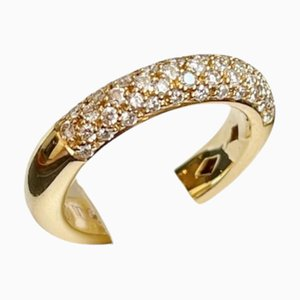 Band Ring in Yellow Gold and Diamonds