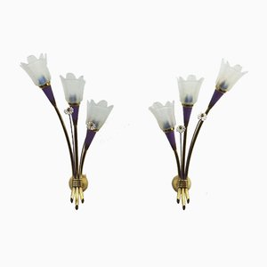 Sconces Attributed to Lunel, 1950s, Set of 2