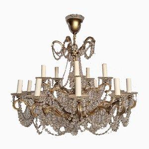 Bronze & Crystal Swarovski Chandelier
