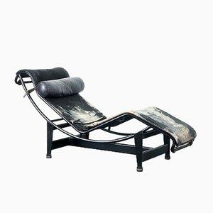 Chaise longue LC4 vintage di Charlotte Perriand, Le Corbusier & Pierre Jeanneret per Cassina, anni '70