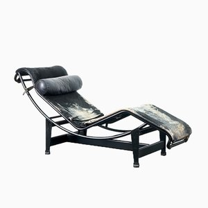 Vintage LC4 Chaise Longue by Charlotte Perriand, Le Corbusier & Pierre Jeanneret for Cassina, 1970s