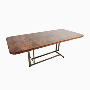 Rosewood and Chrome Dining Table from Merrow Associates