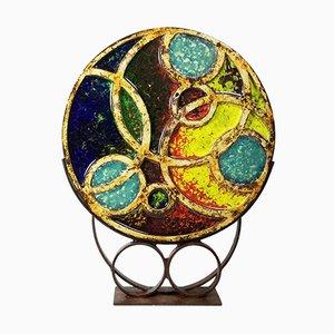 Scultura Atom in ceramica e vetro di Murano