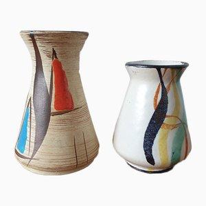 Kleine Vasen von Bodo Mans für Bay Keramik, 2er Set