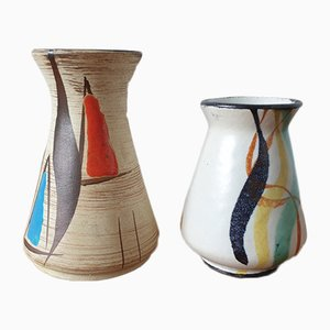 Small Vases by Bodo Mans for Bay Keramik, Set of 2