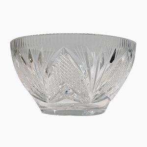Scandinavian Cut Crystal Bowl, 1930s