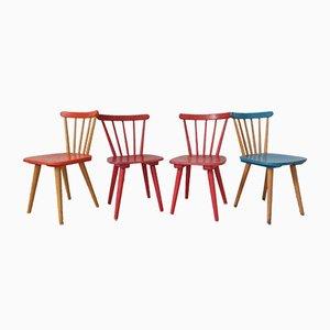 Scandinavian Children's Chairs, Set of 4