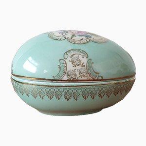 Porcelain Oviform Jewelry Box in Meissen Porcelain