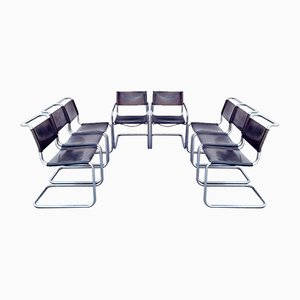 Bauhaus S33 Dining Chairs by Mart Stam and Marcel Breuer for Thonet, 1970s, Set of 8