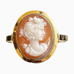 Italienischer Kamee Gelbgold Ring