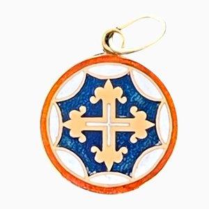 Medaillon mit dem Kreuz des Ordens von Avis