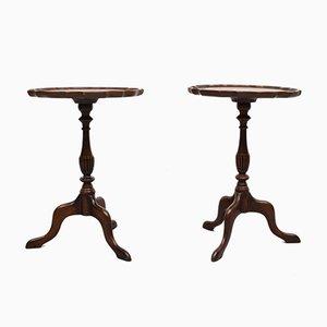 Mahogany Wine Tables, England, 1960s, Set of 2