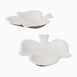 Swedish Ceramic Trays by Gunnar Nylund for Rörstrand, Set of 2