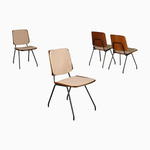 Plywood Chairs by Osvaldo Borsani for Tecno, Italy, 1950s or 1960s, Set of 4