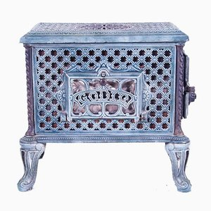 Cast Iron Fireplace with Side Loader from Godin