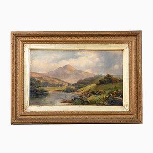 Mountain Scene, Oil on Canvas