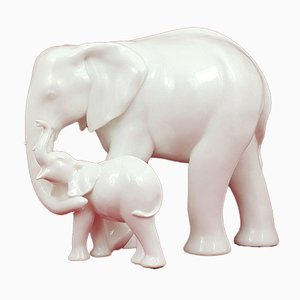 HN3463 White Motherhood Elephant from Royal Doulton