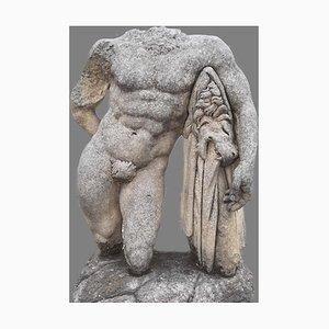 Italian Stone Sculpture of Hercules, 1980s