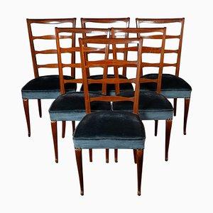 Italienische Mid-Century Esszimmerstühle von Paolo Buffa, 1950, 6er Set