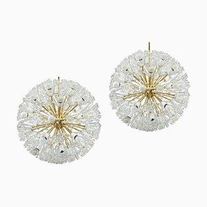 Mid-Century Snow Ball Sputnik Chandeliers by Emil Stejnar for Rupert Nikoll, 1960s, Set of 2