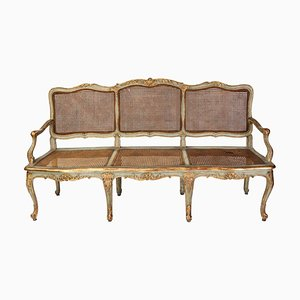 Italian Parcel-Gilt and Painted Canape or Sofa, 18th-Century