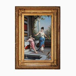 Egisto Sarri, Gemälde aus dem 19. Jahrhundert, pompejanische Szene, Öl auf Leinwand, 1870er