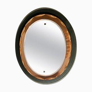 Ovaler Spiegel im Stil von Max Ingrand für Fontana Arte, 1960er