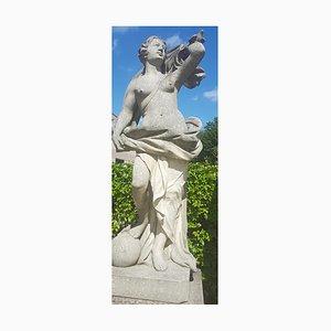 Italienische Gartenskulptur einer römischen Göttin aus Kalkstein, 1960er