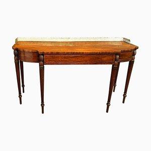 English Mahogany Ormolu Mounted Dessert Console Table, 1810