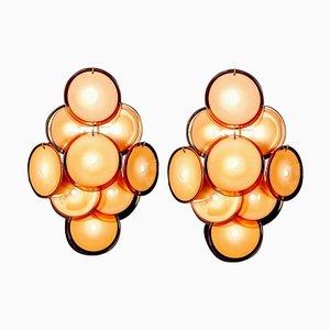 Disc Murano Glass Sconces or Wall Light frm Vistosi, 1970s
