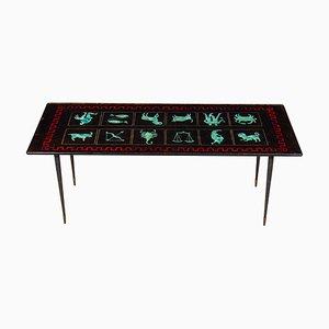 Table Basse ou Cocktail Zodiac en Verre de Fontana Arte