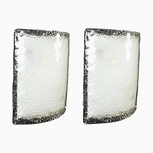 Large Murano Glass Sconces or Wall Lights from Vistosi, 1970, Set of 2