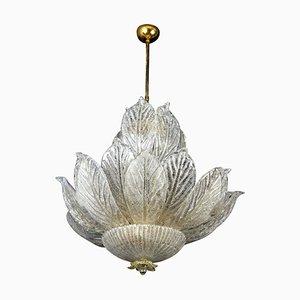 Italian Murano Glass Leave Chandelier
