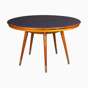 Mid-Century Ess- oder Beistelltisch mit blauer Tischplatte
